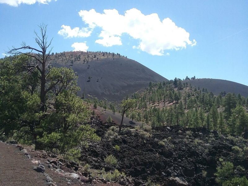 View of sunset crater Volcano