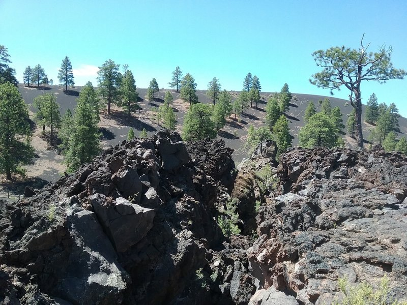 view of lava flows