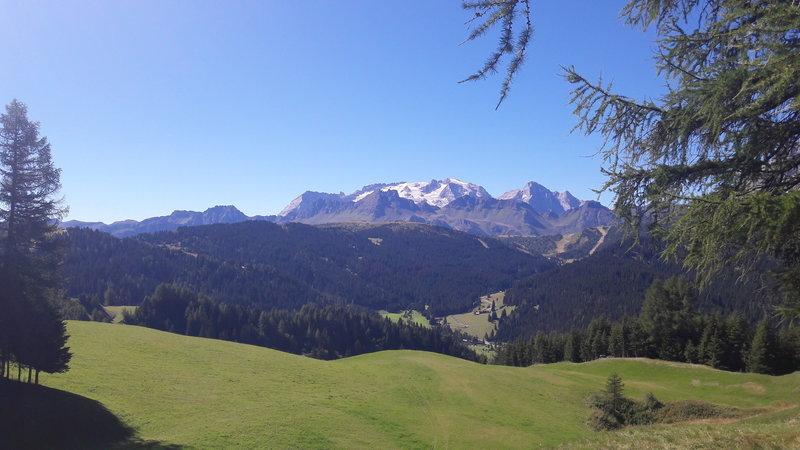 Marmolada view from Corvara