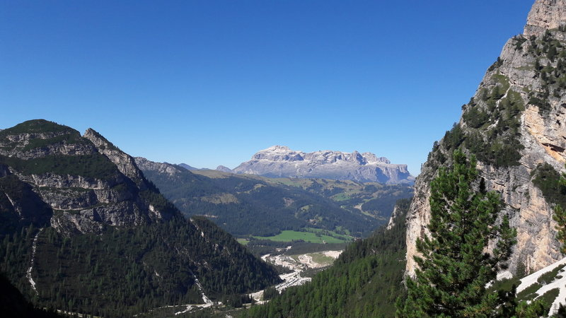 view of Val Badia from the trail