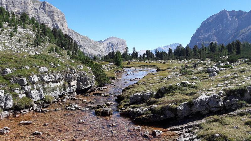 creek near Malga fanes