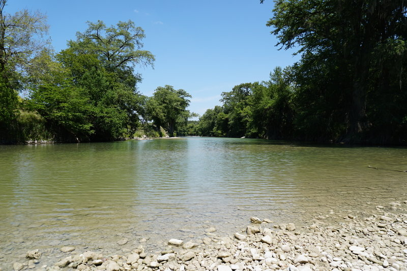 Guadalupe River near the terminus of the Bauer Trail