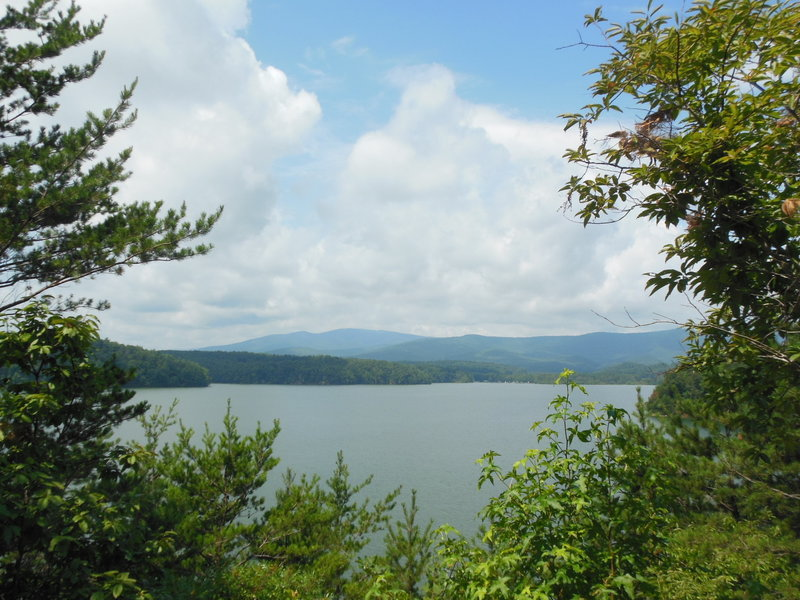 View of Lake James and the mountains