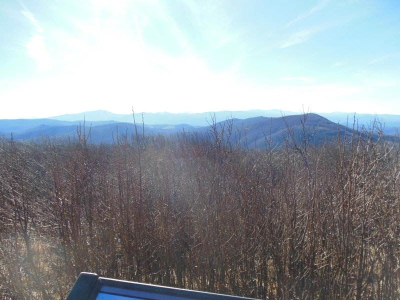 The view from the top of Elk Knob (in winter) looking south.