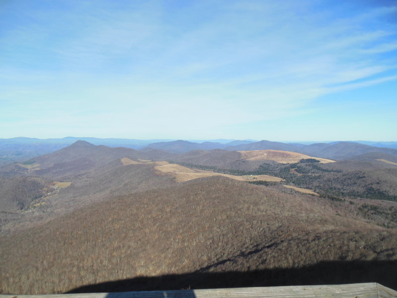 View from the top of Elk Knob (in winter) looking north.