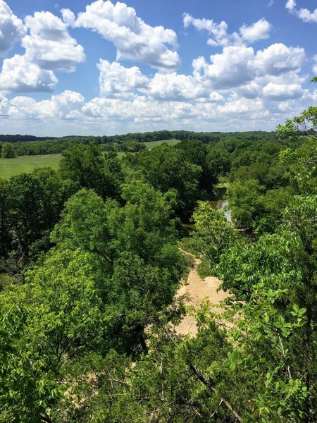 View from one of the Bluffs over Cedar Creek