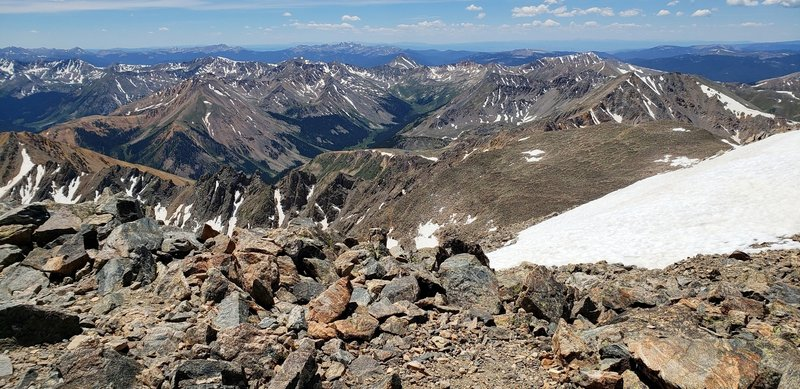 La Plata Peak summit view