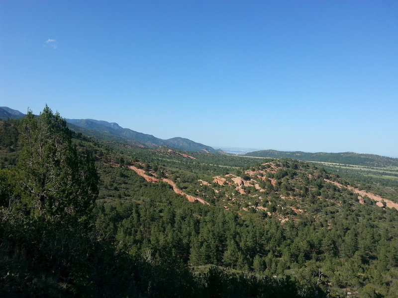 """View from top of """"lookout"""" spur trail"""