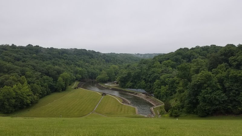 View of the gorge from the dam.
