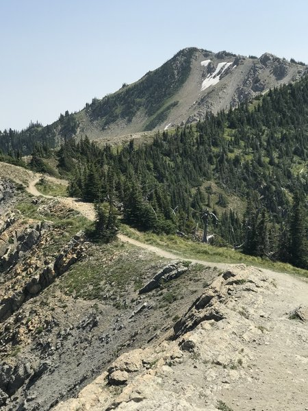 View from first ridge , this he first location you can see int Jewel Basin on this hike, about a half mile to the summit.