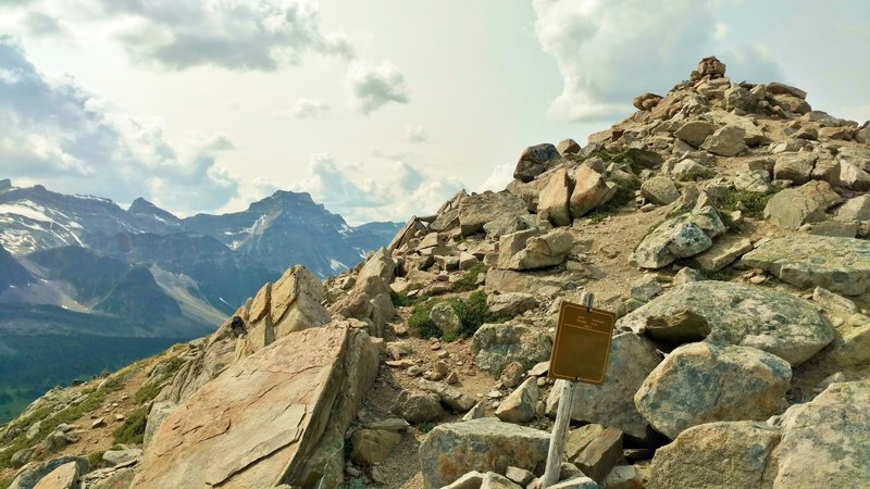 Jonas Shoulder, the high point of Jonas Pass Trail. Looking west-northwest.
