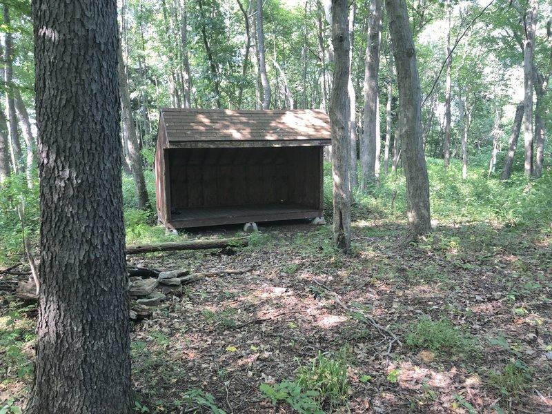 Pine Run Shelter as of July 2018 (Baker Trail)