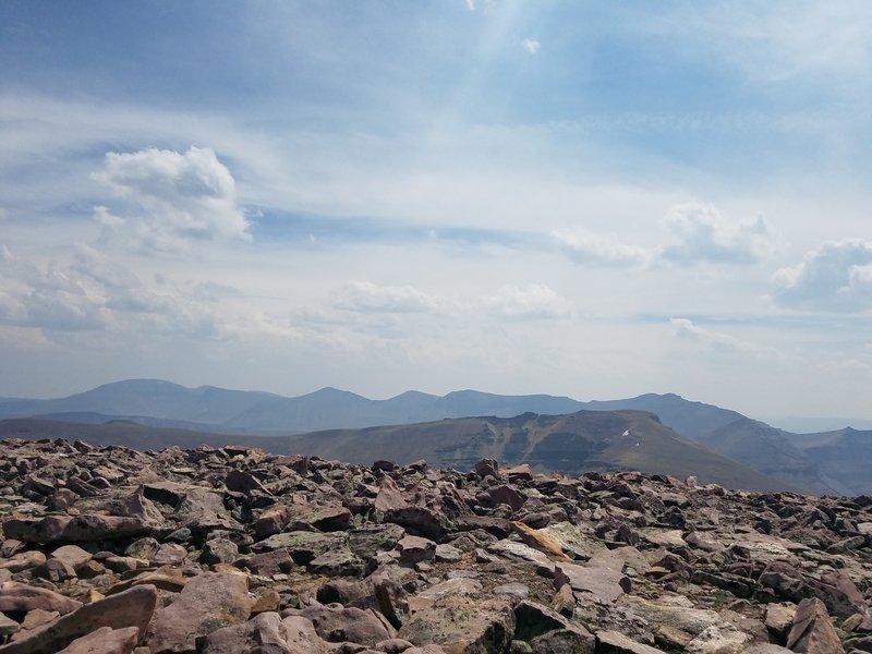 View from Gilbert Peak Summit