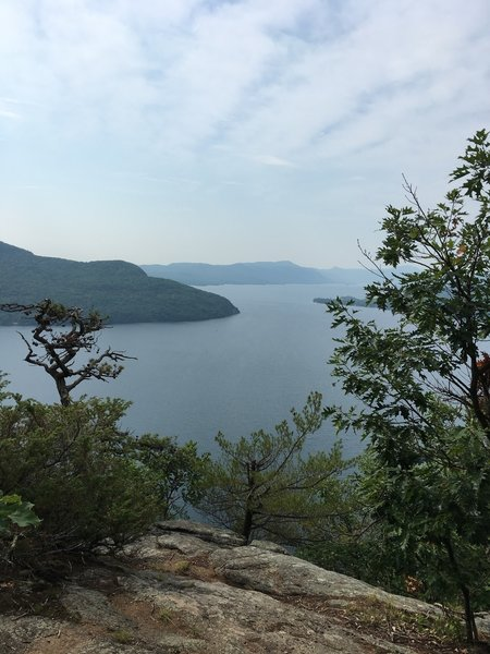 View from Rogers Rock looking south on Lake George NY