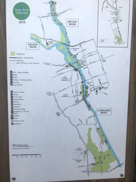 Three Rivers Greenway Trail Map