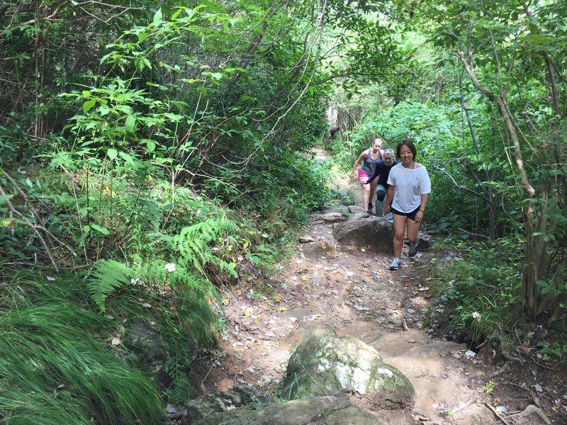 Uphill rise