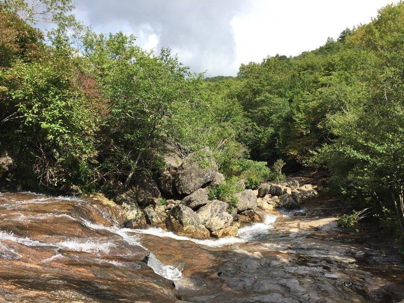 Downstream from upper falls