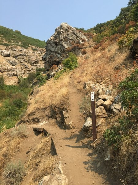 Left to Mid-way Peak via Triumph. Right is Indian Annie--quite steep and a bit exposed and washed out in places.