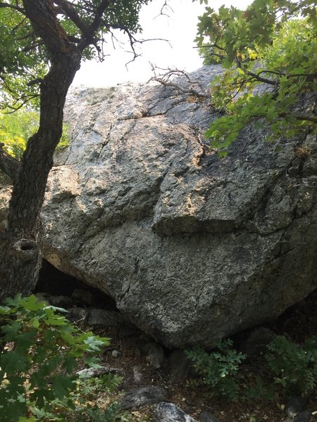 Climb this to get on top of Prayer Rock.