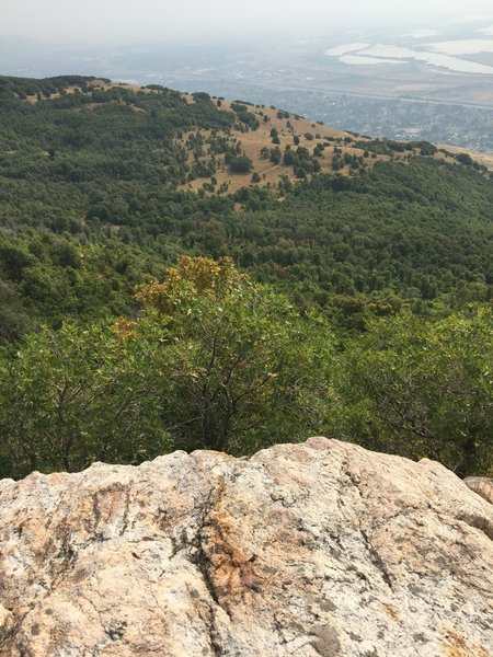 A view of Pretty Valley atop Prayer Rock.
