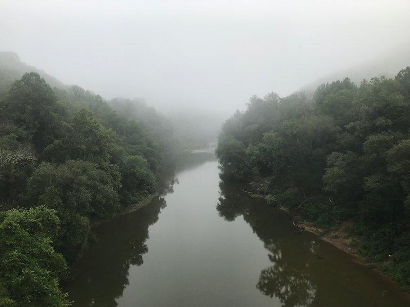 View from bridge at Blue Heron Mining Camp