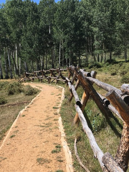 Cool fence built up along the trail. This section was very well maintained and built up.