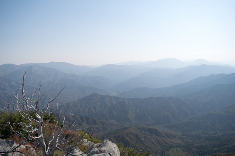 View of the mountains as you climb up the last leg