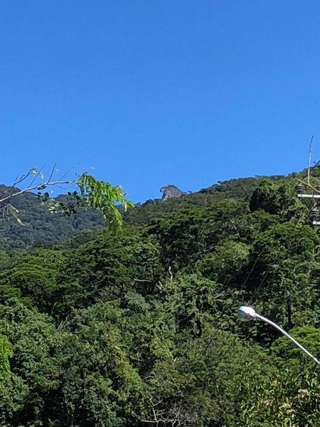 View of the Parrots Head (second highest peak on Ilha Grande) from Abraao village