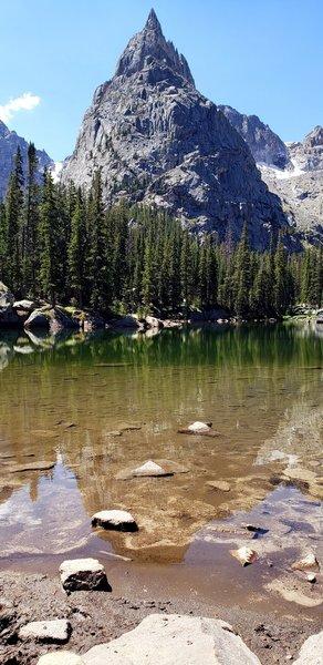 Lone Eagle Peak from Mirror Lake