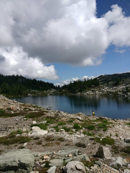 Enjoy the series of small lakes along the top of the loop