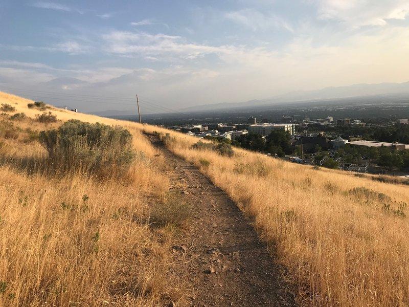 A view of the Bonneville Shoreline Trail near Salt Lake City
