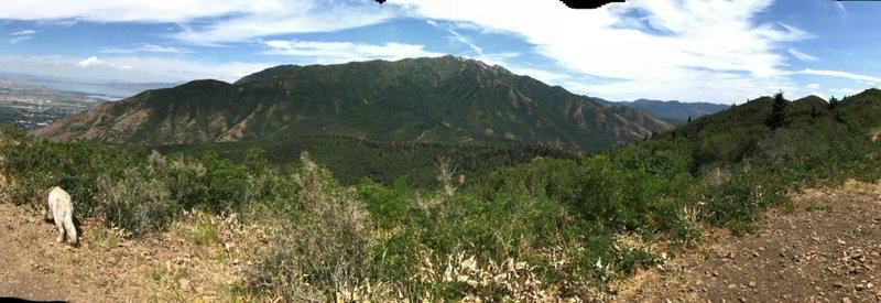 Nice view of Corral Mountain and the valley below from Powerhouse Overlook.