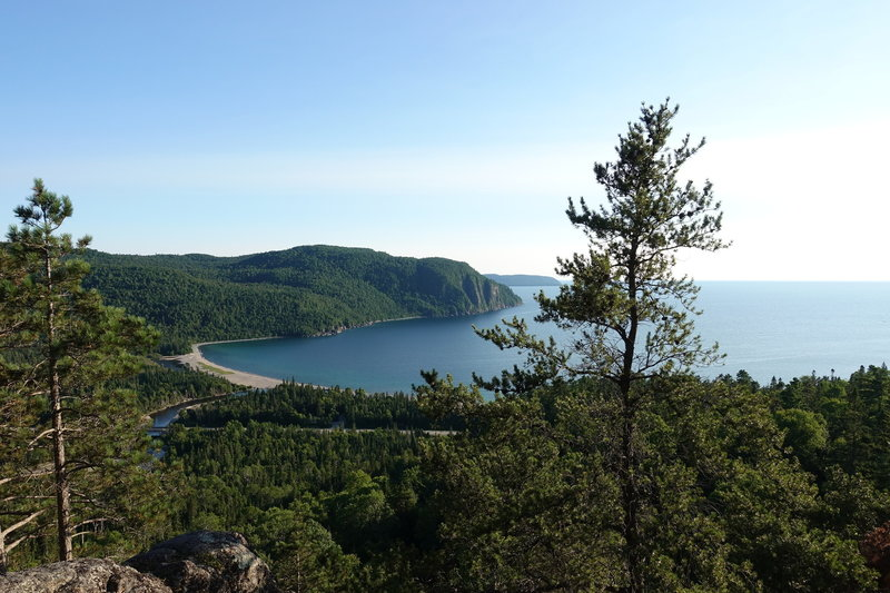 Overlooking Lake Superior from the Nokomis Trail