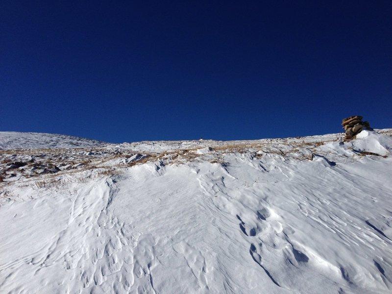 Hourglass Trail heading toward Comanche Peak in November