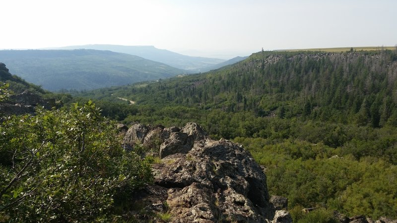 View at the top of the trail overlooking the canyon