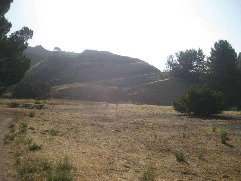 Hills above the trail