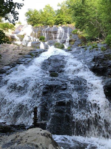 Crab Tree Falls (CTF), lone cairn at base of falls