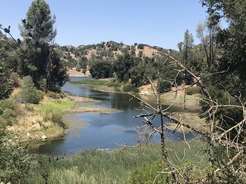 Just a peek at Santa Margarita Lake from the washed out bridge at the end of Sandstone Trail.
