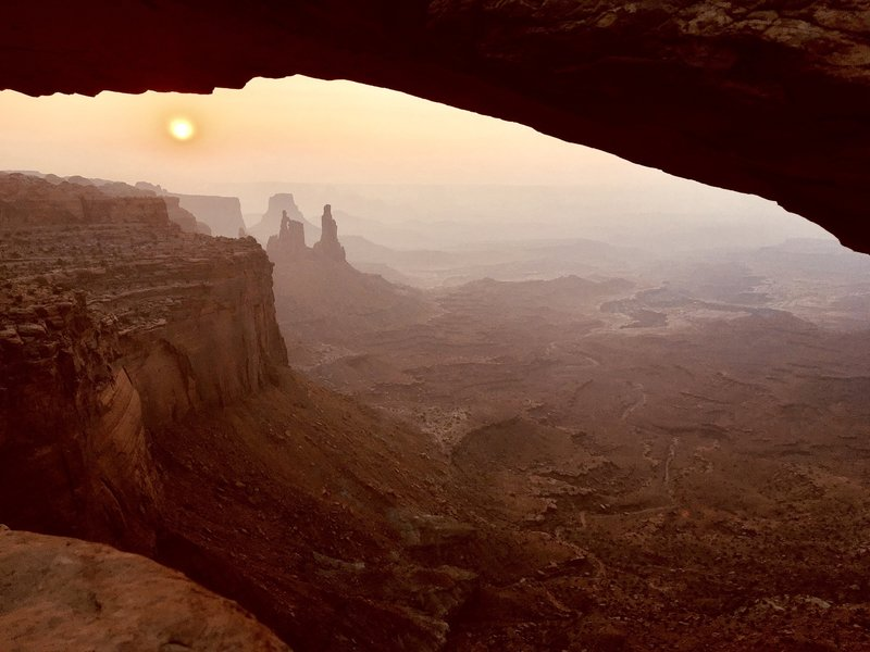Sunrise over Canyonlands.