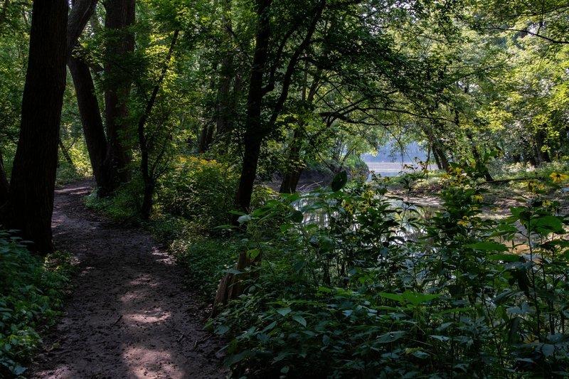 Where Burnett's Creek flows into the Wabash River.