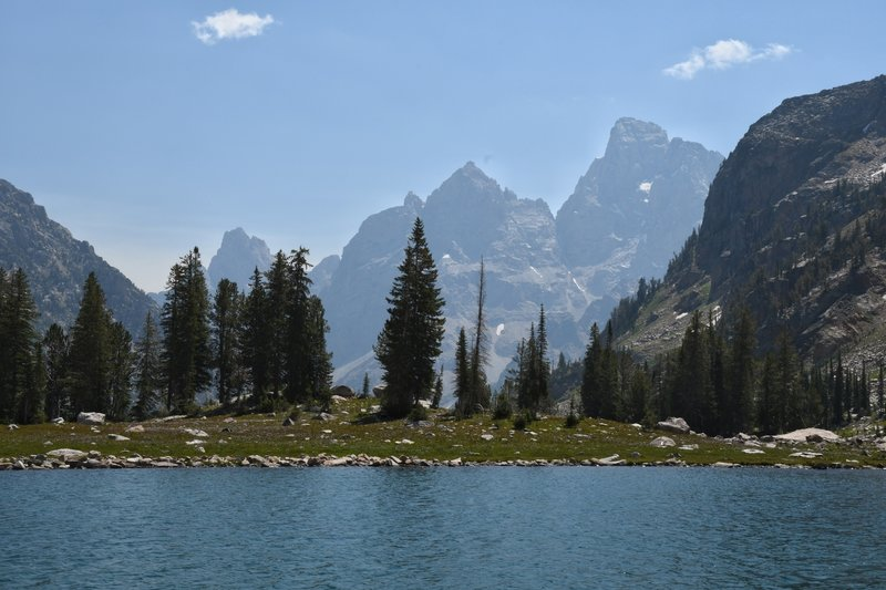 From Lake Solitude looking back toward the Cathedral Group.