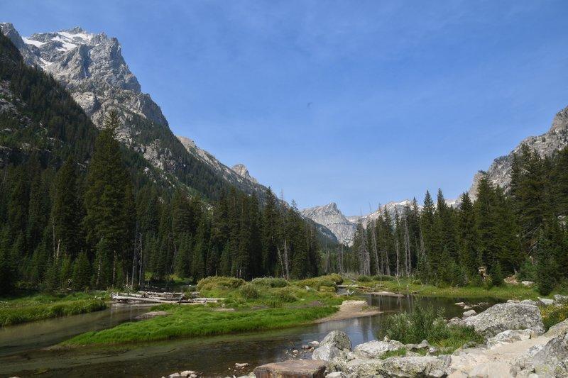 The trail follows Cascade Creek.