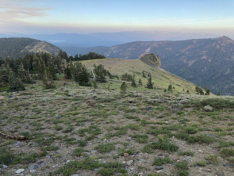 Northeast view on Mount Lola
