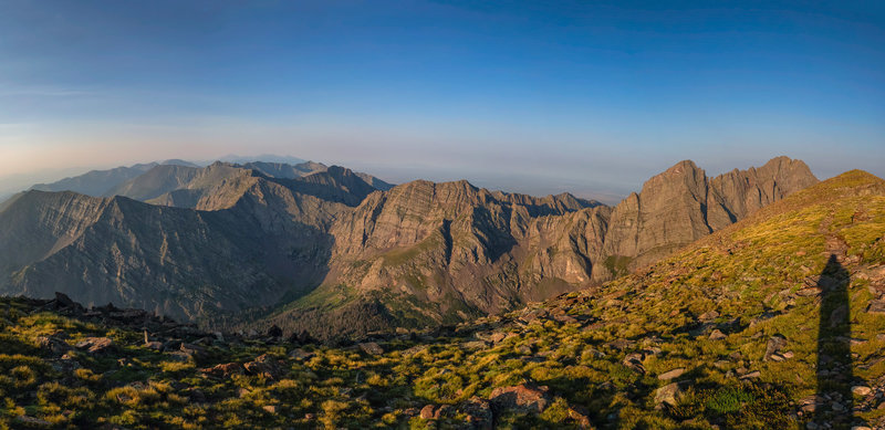 Looking south from the summit, Sangre De Cristo Range.