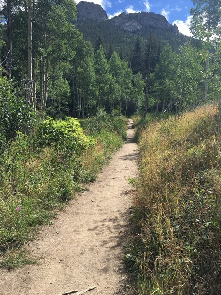 The north side of Raccoon - fewer hikers, even fewer mountain bikers.