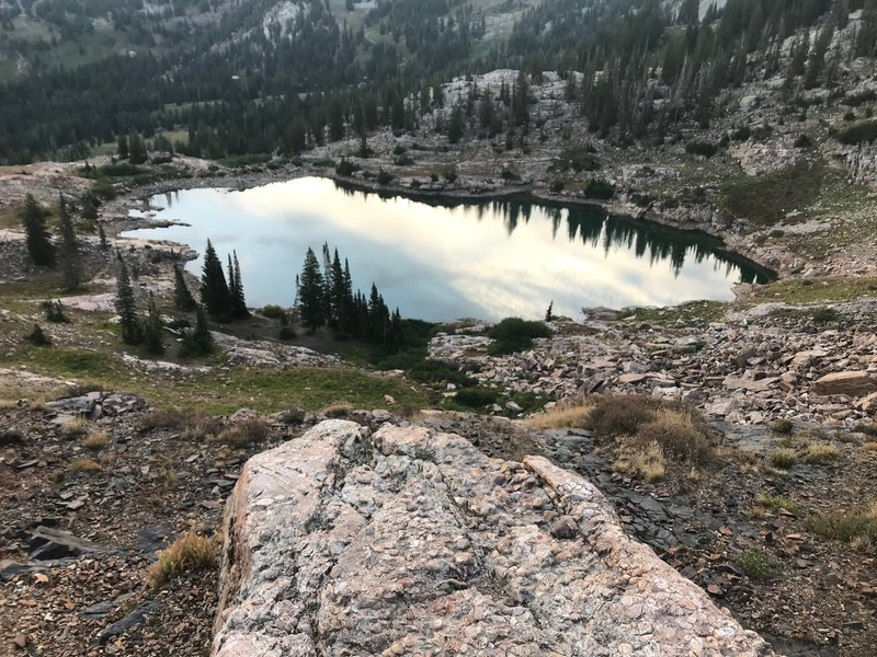 Cecret Lake from the trail up above