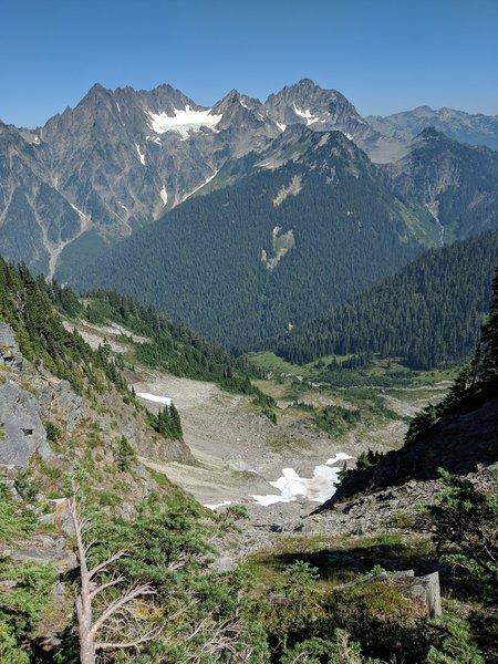 Way down Rangers Pass to Oneill Pass Trail