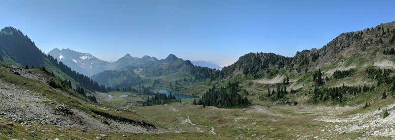 Looking down at Lacrosse Lake from Rangers Pass