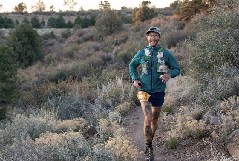 Drew Frehs on course of the Whiskey Basin 91K