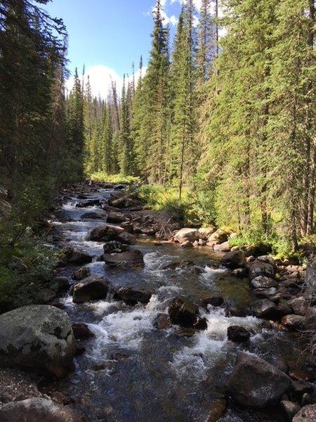 One of three creek crossings